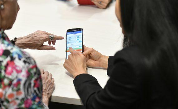 Using seniors' care app