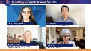 Allison Sekuler, Richard Lui, Jill Daum and Lisa Raitt on a Zoom call