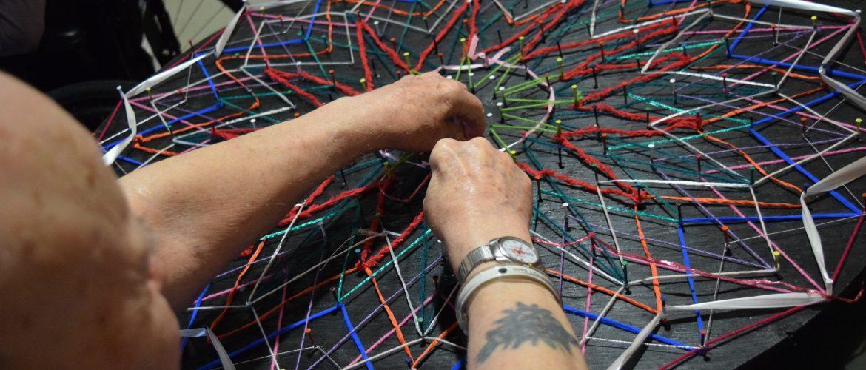Mandala making with Active Seniors