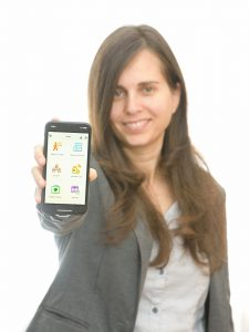 Einat Danieli with the Dementia Talk App