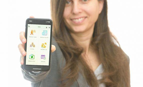 Einat Danieli with the Dementia Talk App
