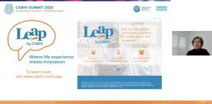 Screenshot of the LEAP platform