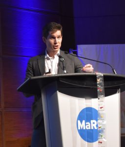 Spencer Waugh, CEO of AceAge, makes his pitch