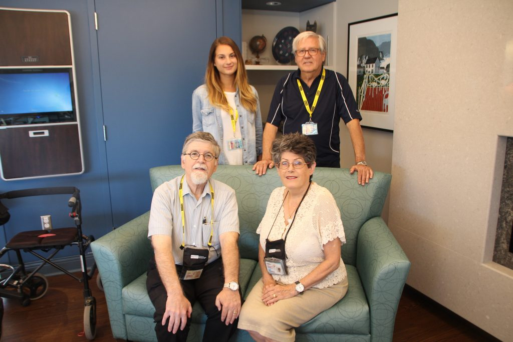 A picture of volunteers Alan and Helen Cohen, Sabrina Teles, and Barney Breslow.