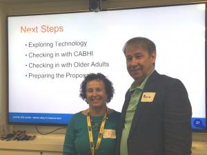 A photo of two members of CABHI's Seniors Advisory Panel