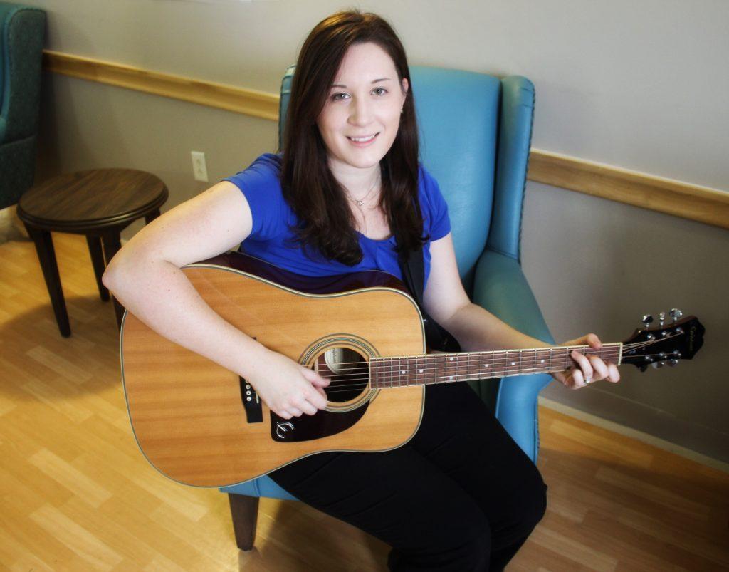 Sarah Condran, music therapist at Arborstone Enhanced Care (Shannex)