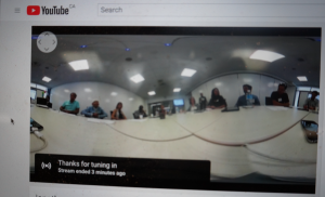 A screen shot of the live feed of the XR Think Tank