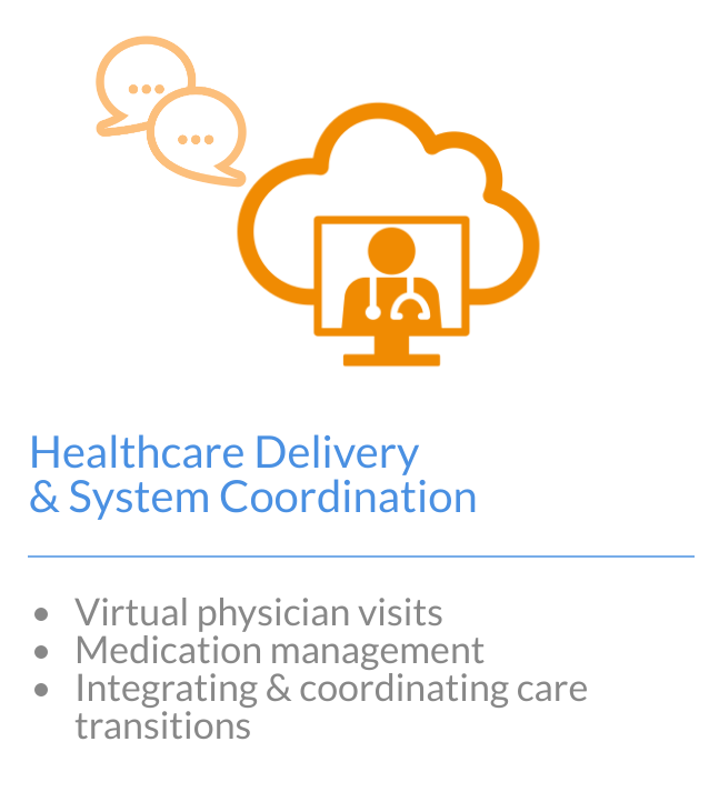 Image with text of healthcare delivery and systems coordination