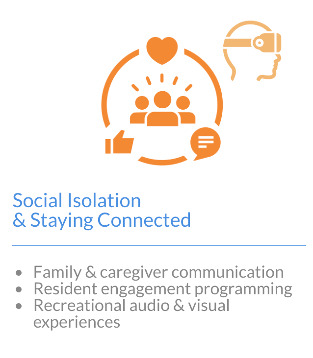Image with text of social isolation and staying connected