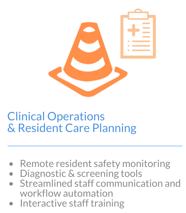 Image with text of clinical operations and resident care planning