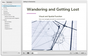 """A screen grab of the e-learning module that reads """"Wondering and Getting Lost"""""""