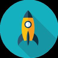 rocketship graphic