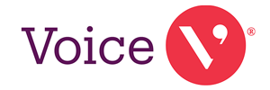voice logo, links to company page